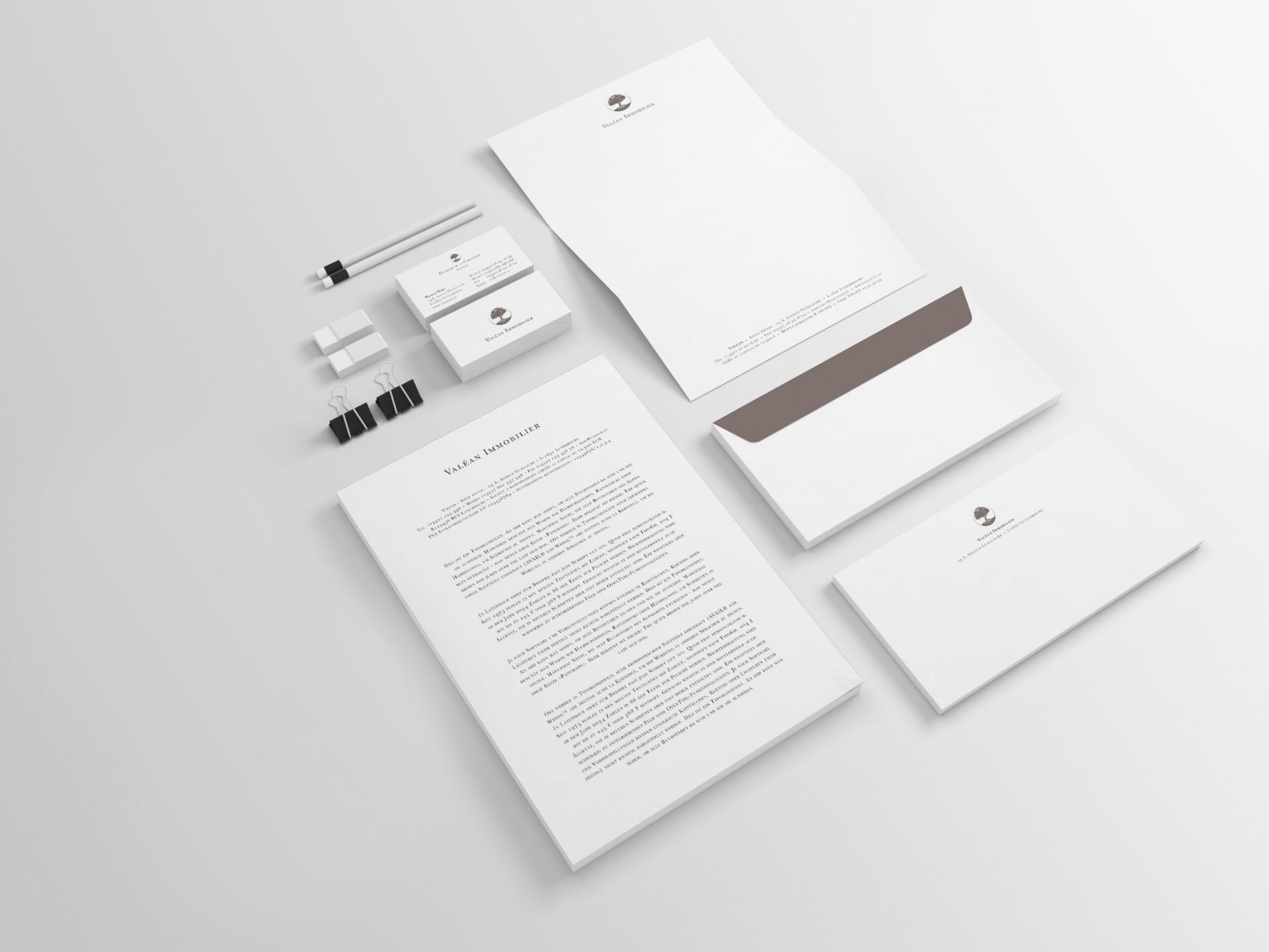 Valéan Immobilier – Corporate Design